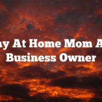 Stay At Home Mom And Business Owner