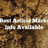 The Best Article Marketing Info Available