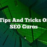 The Tips And Tricks Of The SEO Gurus