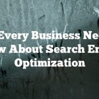 What Every Business Needs To Know About Search Engine Optimization