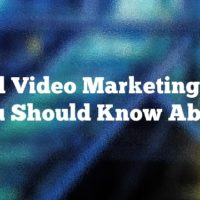 Good Video Marketing Tips You Should Know About