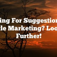 Looking For Suggestions On Article Marketing? Look No Further!