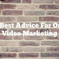 The Best Advice For Online Video Marketing