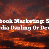 Facebook Marketing: Social Media Darling Or Devil?