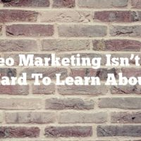 Video Marketing Isn't Too Hard To Learn About