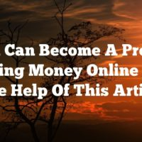 You Can Become A Pro At Making Money Online With The Help Of This Article