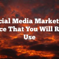 Social Media Marketing Advice That You Will Really Use