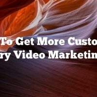 Want To Get More Customers? Try Video Marketing