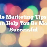 Article Marketing Tips That Can Help You Be More Successful