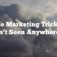 Article Marketing Tricks You Haven't Seen Anywhere Else