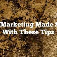 Video Marketing Made Simple With These Tips