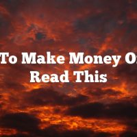 Want To Make Money Online? Read This