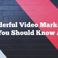 Wonderful Video Marketing Tips You Should Know About