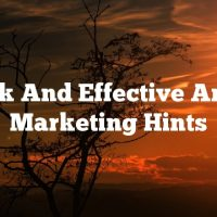 Quick And Effective Article Marketing Hints