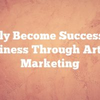 Quickly Become Successful In Business Through Article Marketing