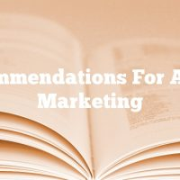 Recommendations For Article Marketing