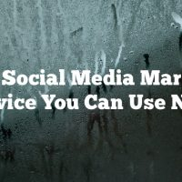 Smart Social Media Marketing Advice You Can Use Now