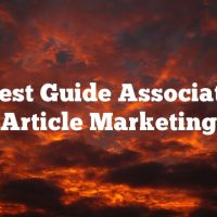 The Best Guide Associated To Article Marketing