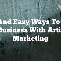 Fast And Easy Ways To Grow  A Business With Article Marketing