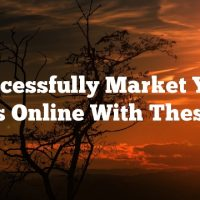 Successfully Market Your Videos Online With These Tips