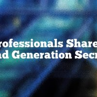 The Professionals Share Their Lead Generation Secrets