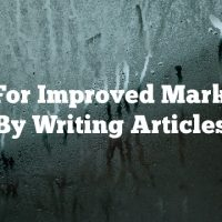 Tips For Improved Marketing By Writing Articles