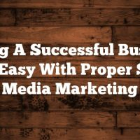 Having A Successful Business Is As Easy With Proper Social Media Marketing