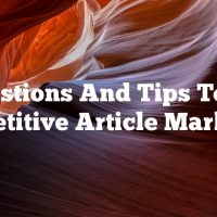 Suggestions And Tips To Start Competitive Article Marketing