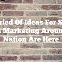 A Varied Of Ideas For Social Media Marketing Around The Nation Are Here
