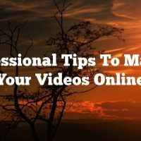 Professional Tips To Market Your Videos Online