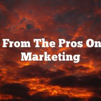 Tricks From The Pros On Video Marketing