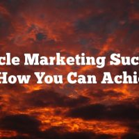Article Marketing Success And How You Can Achieve It