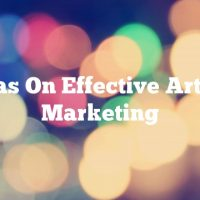 Ideas On Effective Article Marketing