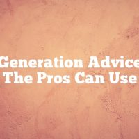 Lead Generation Advice Even The Pros Can Use