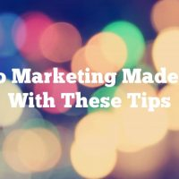 Video Marketing Made Easy With These Tips