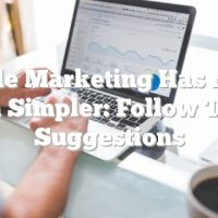 Article Marketing Has Never Been Simpler: Follow These Suggestions