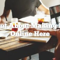 Find Out About Making Money Online Here