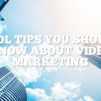 Cool Tips You Should Know About Video Marketing