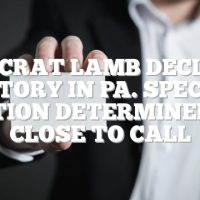 Democrat Lamb declares victory in Pa. special election determined too close to call