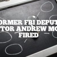 Former FBI Deputy Director Andrew McCabe fired