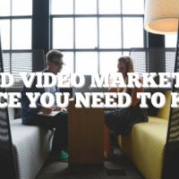 Good Video Marketing Advice You Need To Know