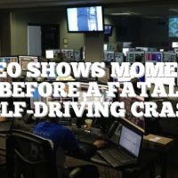 Video shows moments before a fatal self-driving crash