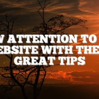 Draw Attention to Your Website With These Great Tips