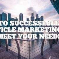 How To Successfully Use Article Marketing To Meet Your Needs