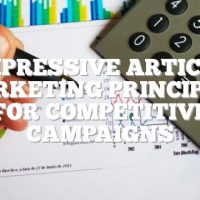 Impressive Article Marketing Principles For Competitive Campaigns