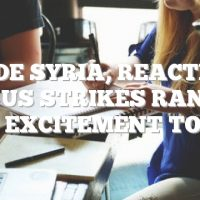Inside Syria, reactions to US strikes range from excitement to fear