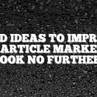 Need Ideas To Improve Your Article Marketing?  Look No Further.